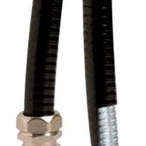 Металлорукав DN 10мм в гладкой PU оболочке Dвн 10 0 мм Dнар 15 0мм 50м черный