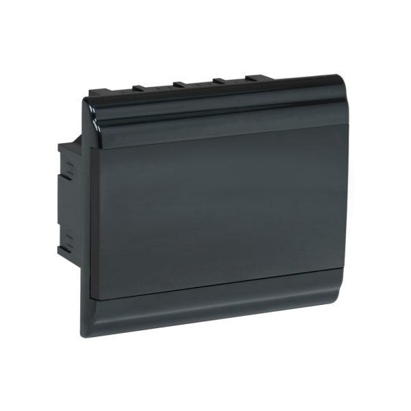 Корпус модульный пластиковый встраиваемый ЩРВ-П-9 PRIME черный IP41 IEK