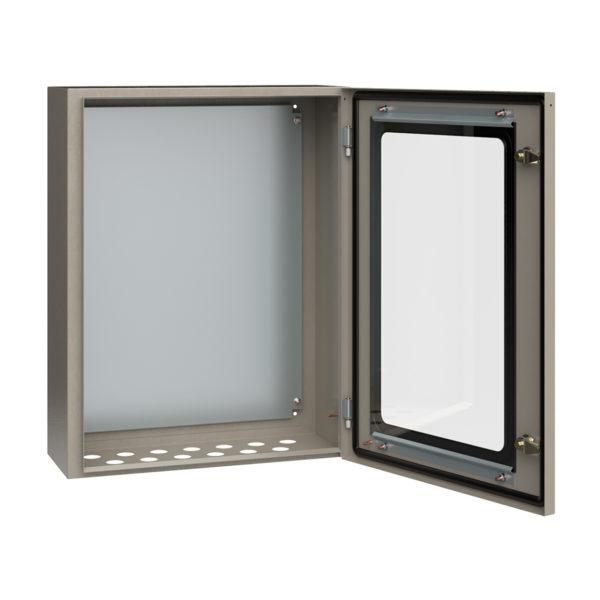 Корпус металлический ЩМП-3-0 У2 IP54 с прозрачной дверцей IEK