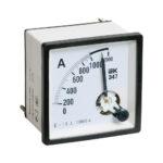 Амперметр аналоговый Э47 1000/5А класс точности 1,5 72х72мм IEK