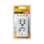 Розетка-таймер электронный РТЭ-2 с индикацией 15мин-6ч 16А IP20 IEK 3