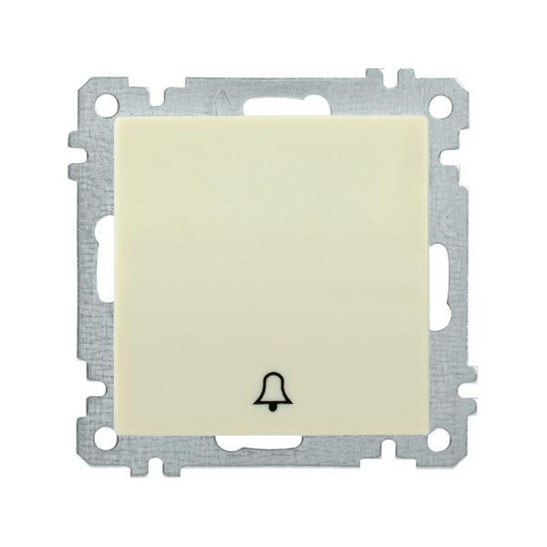 Выключатель 1-клавишный кнопочный звонок ВС10-1-4-Б 10А BOLERO кремовый IEK