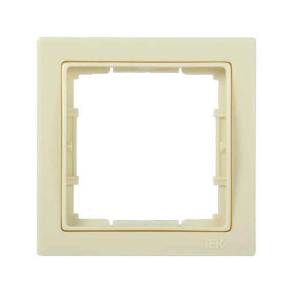 Рамка 1-местная квадратная РУ-1-БК BOLERO Q1 кремовый IEK