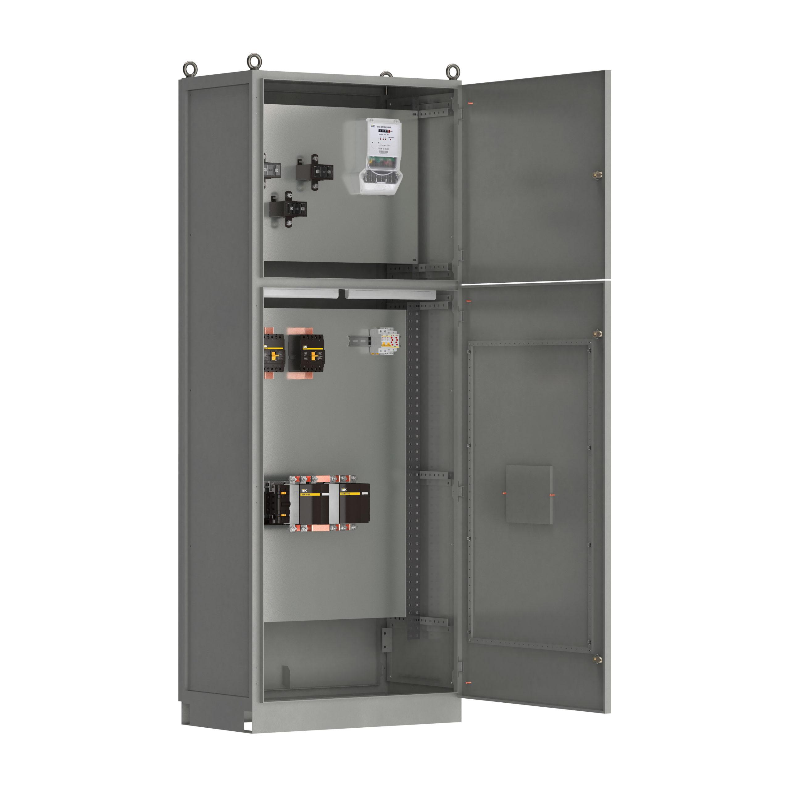 Панель вводная ВРУ1-17-70 УХЛ4 с АВР выключатели автоматические 3Р 2х100А 1Р 2х6А контактор 1х115А и учет IEK