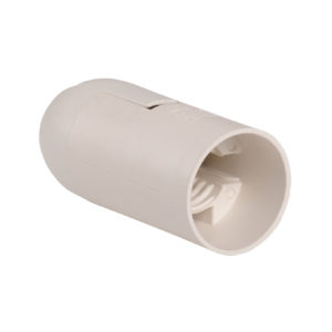 Патрон подвесной Ппл14-02-К02 пластик Е14 белый (50шт) (стикер на изделии) IEK