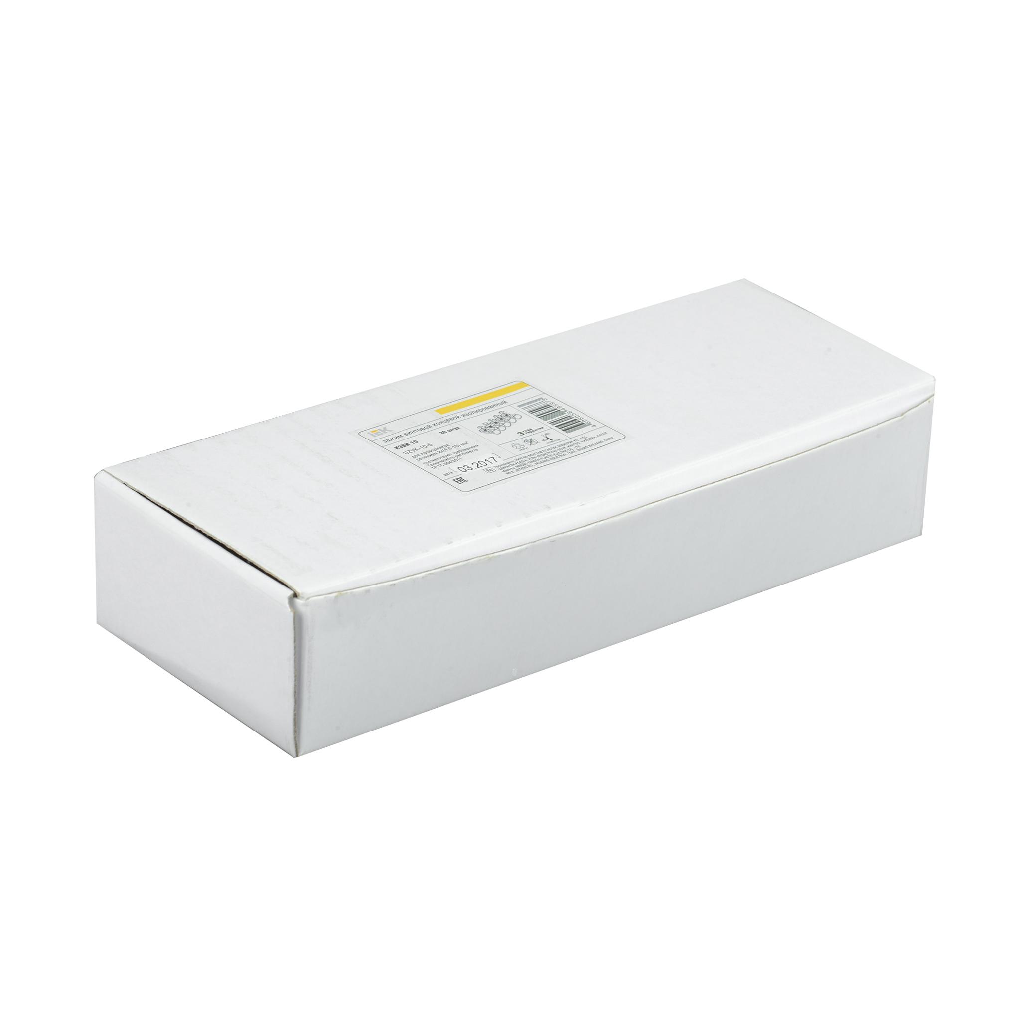 Зажим винтовой концевой изолированный КЗВИ 10мм2 (5x1) IEK