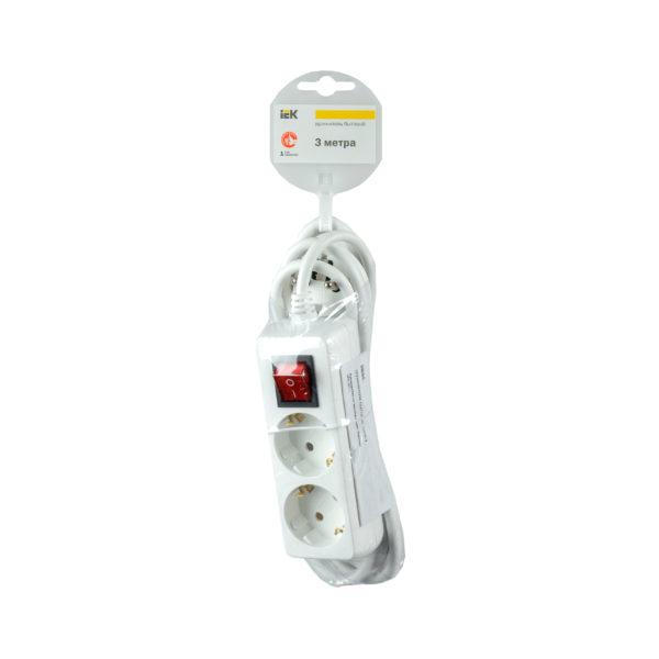 Удлинитель У02К-выкл. 2 места 2P+PE/3м 3х1мм2 16А/250В IEK