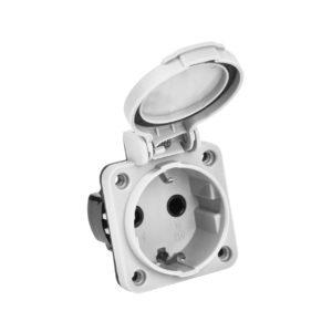 MAGNUM Розетка панельная SCHUKO РП13-3 IP54 серый IEK