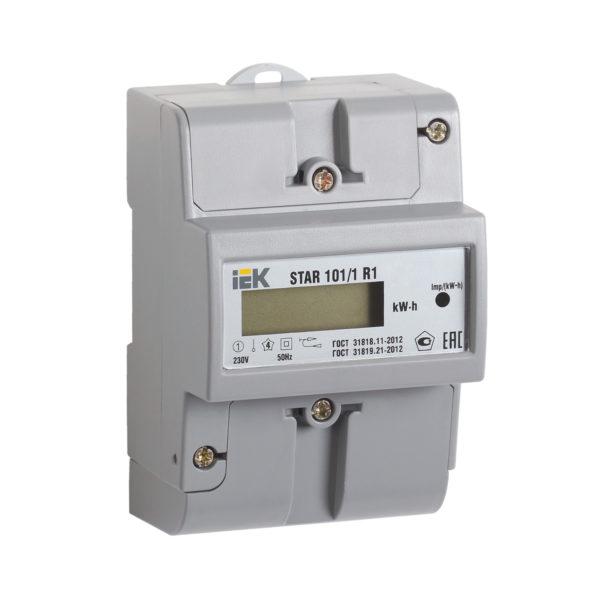 Счетчик электрической энергии однофазный STAR 101/1 R1-5(60)Э IEK
