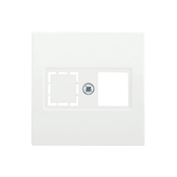 Накладка телефонная НТ12-1-ББ RJ12/HDMI BOLERO белый IEK