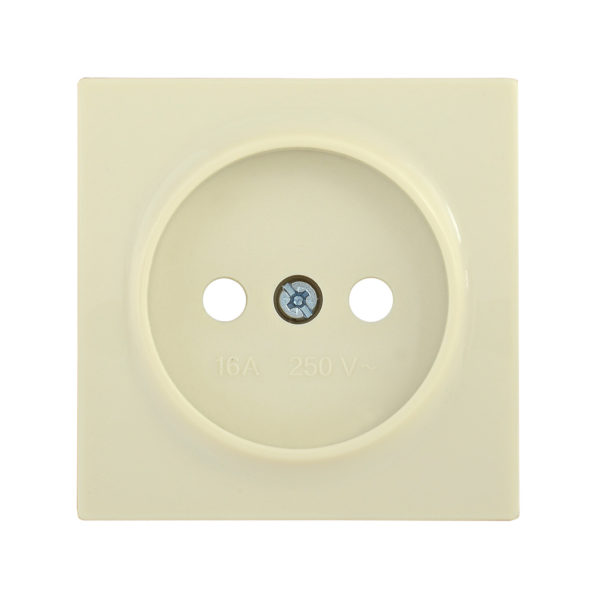 Накладка розетка НР-1-0-БК без заземляющего контакта BOLERO кремовый IEK
