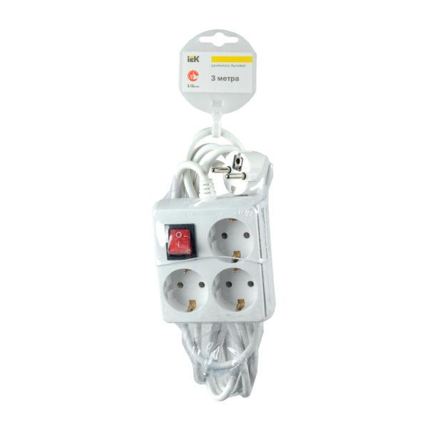 Удлинитель У-С03К-выкл. 3 места 2P+PE/3м 3х1мм2 16А/250В IEK